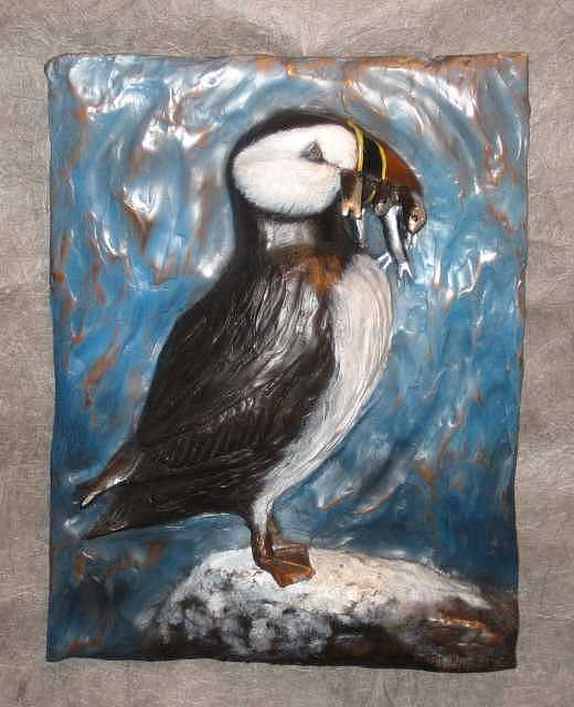 Puffin Sculpture - Puffin by Fred Lunger