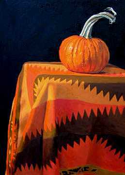 Pumpkin Painting - Pumpkin by Margie Guyot
