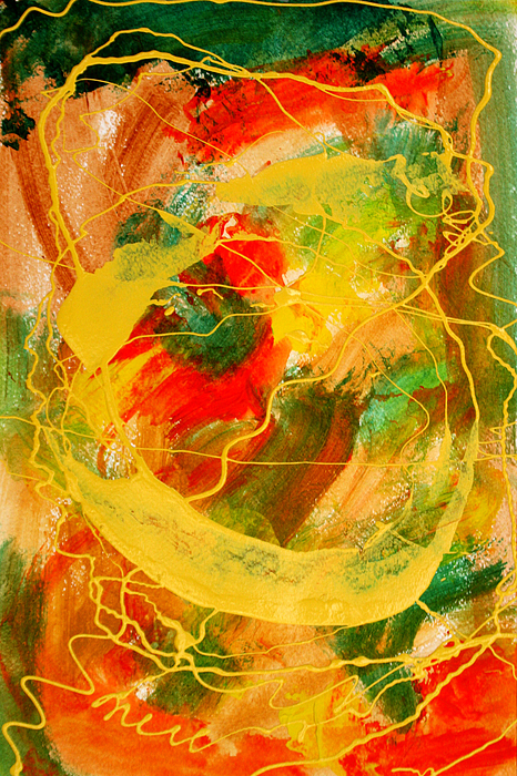 Abstract Painting - Punkin Patch by Mordecai Colodner