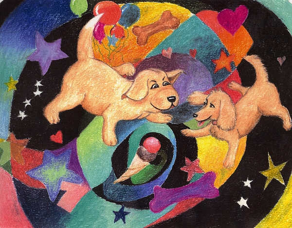 Puppy Pastel - Puppy Dog Dream by Larry Whitler