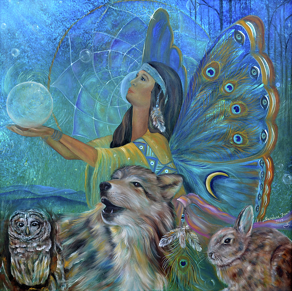 Native American Painting - Purification by Sundara Fawn