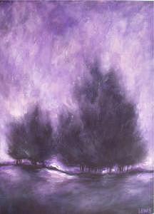 Purple Painting - Purple Haze by Ellen Lewis