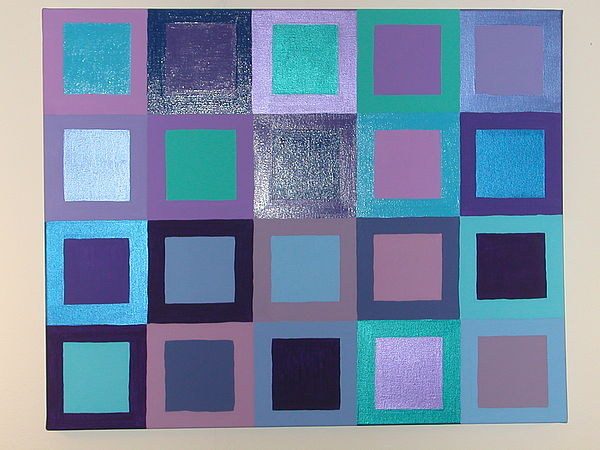 Squares Painting - Purple Haze by Gay Dallek