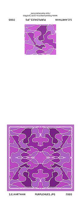 Purple Hues Digital Art by Sue Hartman