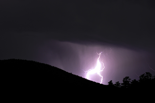 Lightning Photograph - Purple Lightning by Matthew Fredricey