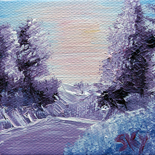 Wonderous Painting - Purple Majesty Landscape by Jera Sky