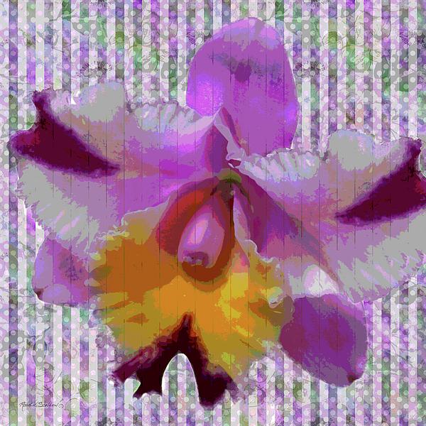 Orchid Mixed Media - Purple Orchid Design by Rosalie Scanlon