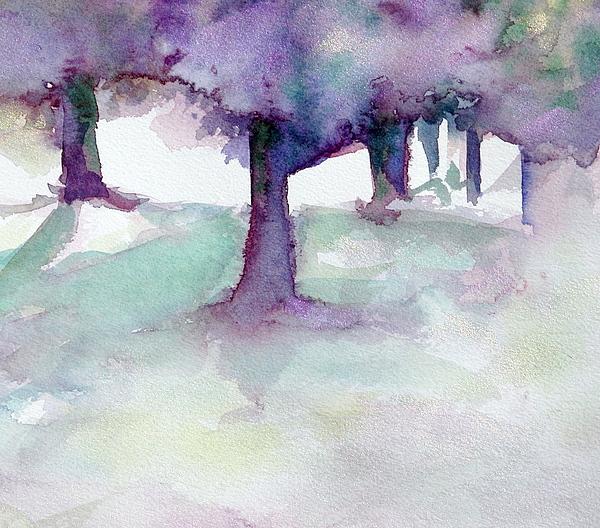 Landscape Painting - Purplescape II by Jan Bennicoff