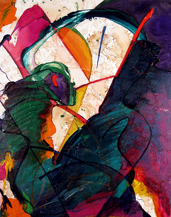 Abstract Painting - Push Harder Sisyphus by Quinn Peterson