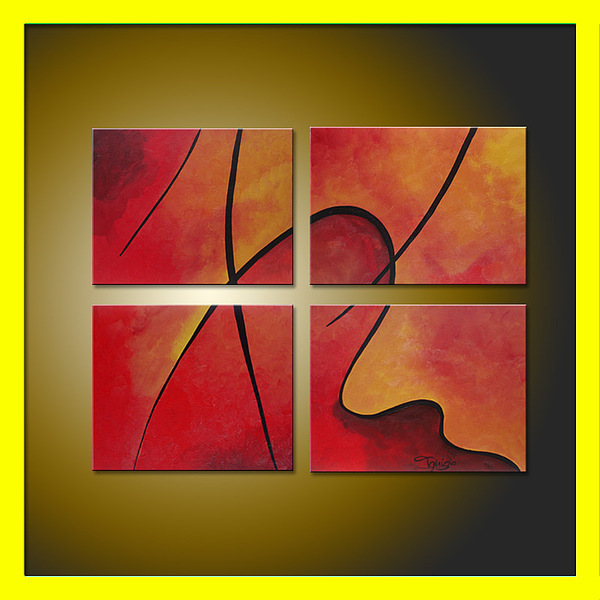 Contemporary Abstract Painting - Puzzled by Frank Ignizio
