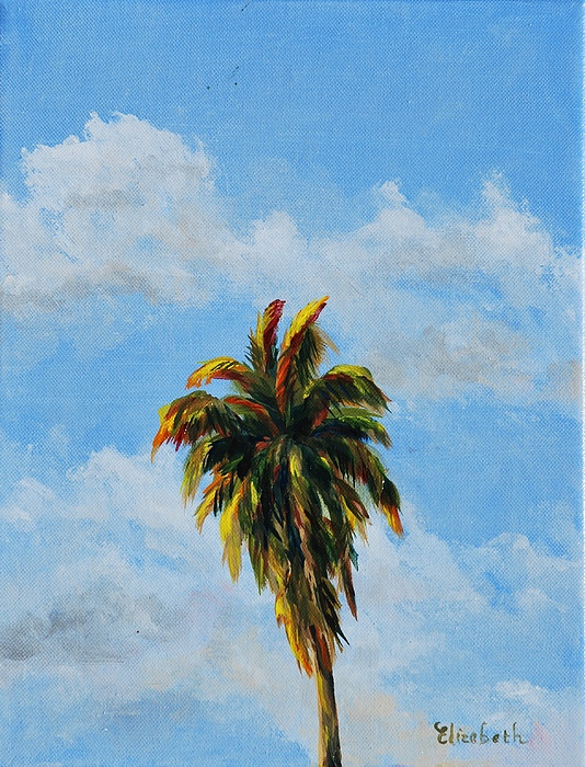 Palm Tree Painting - Quad Palms 2 Of 4 by Beth Maddox