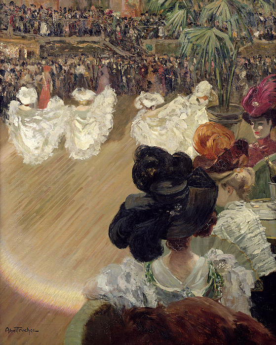 Quadrille Painting - Quadrille At The Bal Tabarin by Abel-Truchet