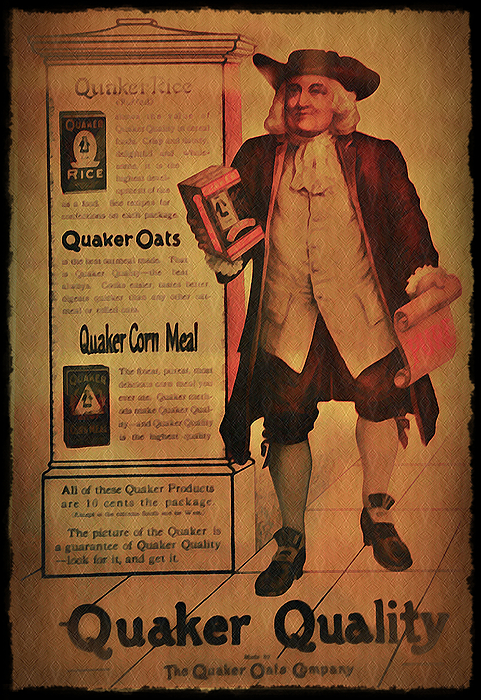 Quaker Photograph - Quaker Quality by Bill Cannon