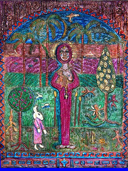 Religious Digital Art - Quan Yin by Maria Alquilar