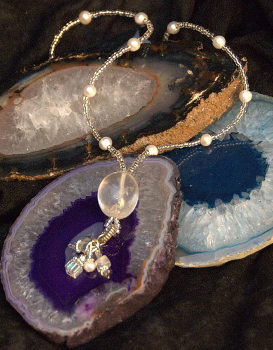 Jewelry Jewelry - Quartz Crystal Necklace by Michelle Lake