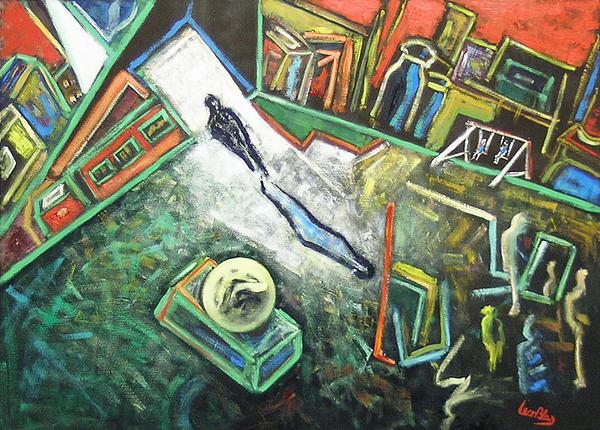 Surreal Painting - Quattro Passi Alla Scoperta Dell by Leonblas Leonblas