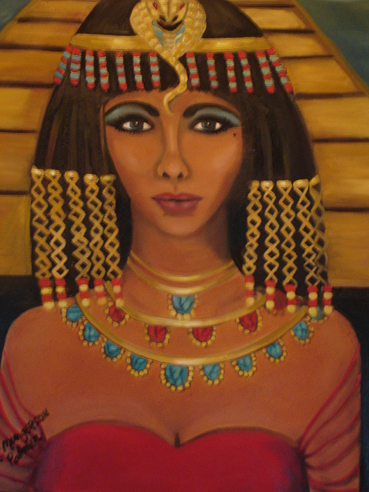 Cleopatra Painting - Queen Elizabeth Of The Nile by Linda Mungerson