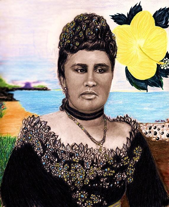 Hawaii Drawing - Queen Liliuokalani by Carliss Mora