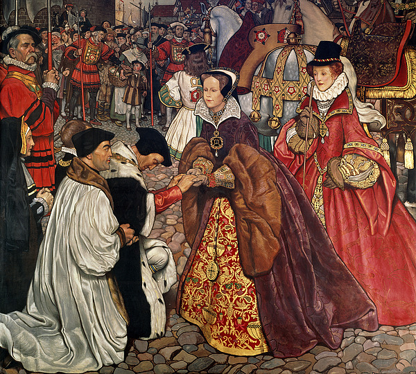 Queen Painting - Queen Mary And Princess Elizabeth Entering London by John Byam Liston Shaw