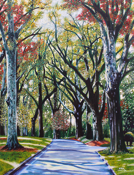 Trees Painting - Queens Road West by Jerry Kirk