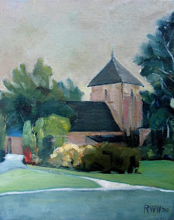 Chruch Painting - Quiet Chapel by Richard  Willson