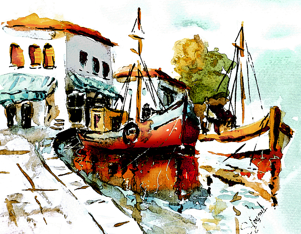 Holiday Painting - Quiet Corner On The Med by Steven Ponsford