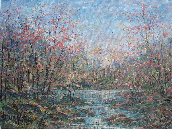 Landscape Painting - Quiet Evening. by Leonard Holland