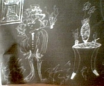 Quiet Moment In The Study Drawing by Eric Utin