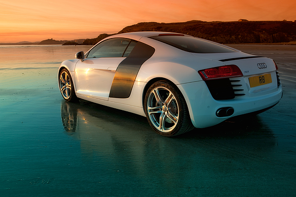 Audi Photograph - R8 On The Beach 2 by Rory Trappe