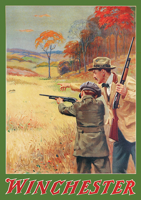 Rabbit Painting - Rabbit Hunting by George Brehm