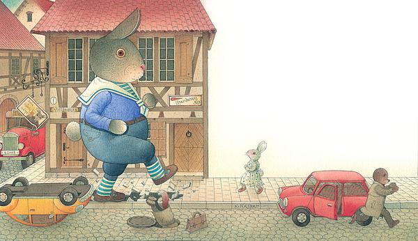 Rabbit Marcus The Great 19 Painting by Kestutis Kasparavicius
