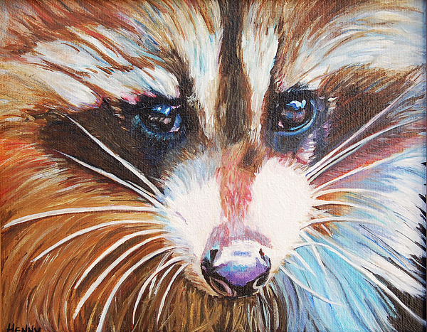 Raccoon painting by henny dagenais for Henny and paint