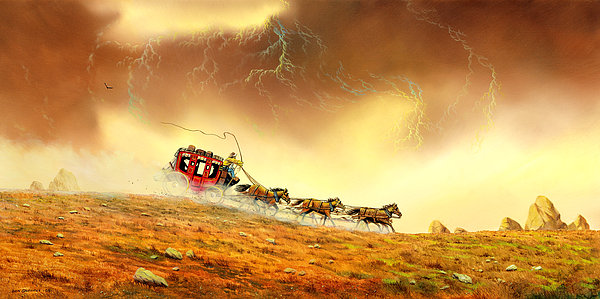 Landscape Painting - Racing The Storm by Don Griffiths