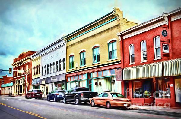 Radford Photograph - Radford Virginia - Along Main Street by Kerri Farley
