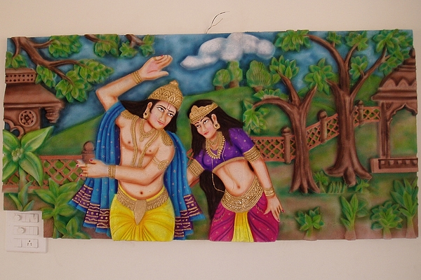 Radha Krishna Mural Relief By Prasanna Chury Part 97