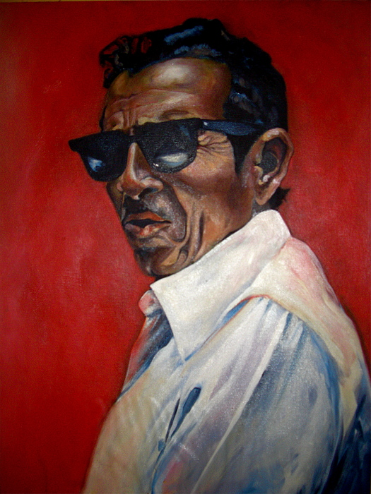 Portrait Painting - Rafael by Yxia Olivares