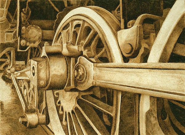 Railroad Drawing - Railroad No.1 by Cate McCauley