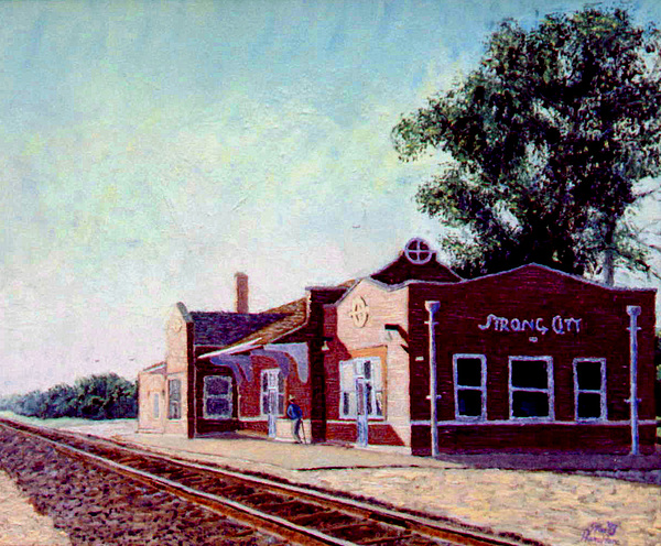 Railroad Painting - Railroad Station by Stan Hamilton