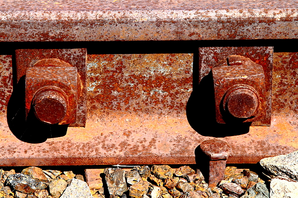 Railroad Track Nuts Bolts Spikes   7d12683 by Wingsdomain Art and  Photography