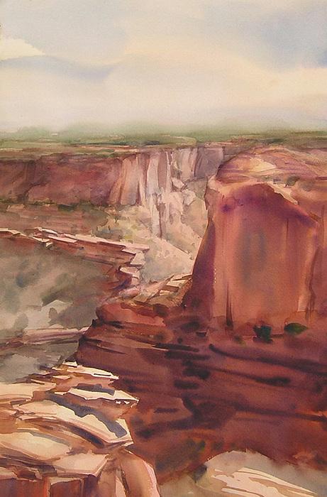 Canyon Painting - Rain And Shine by Frank LaLumia