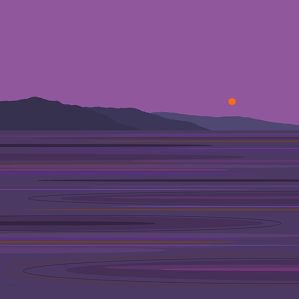 Purple Digital Art - Rain At The Lake by Val Arie