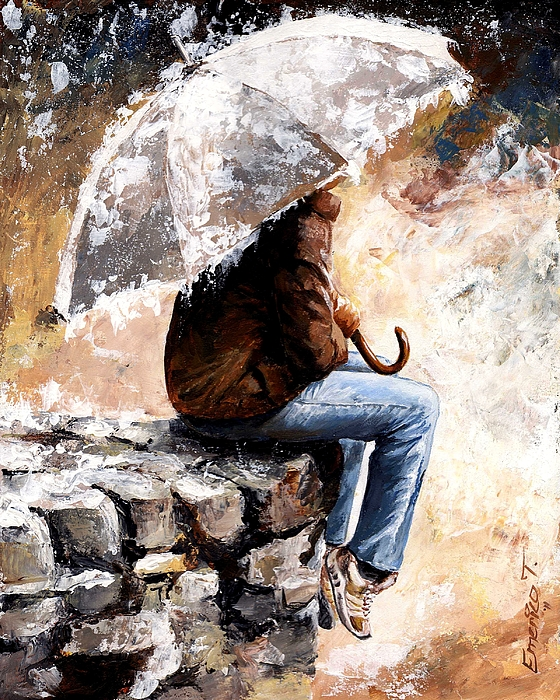 Rain Painting - Rain Day by Emerico Imre Toth