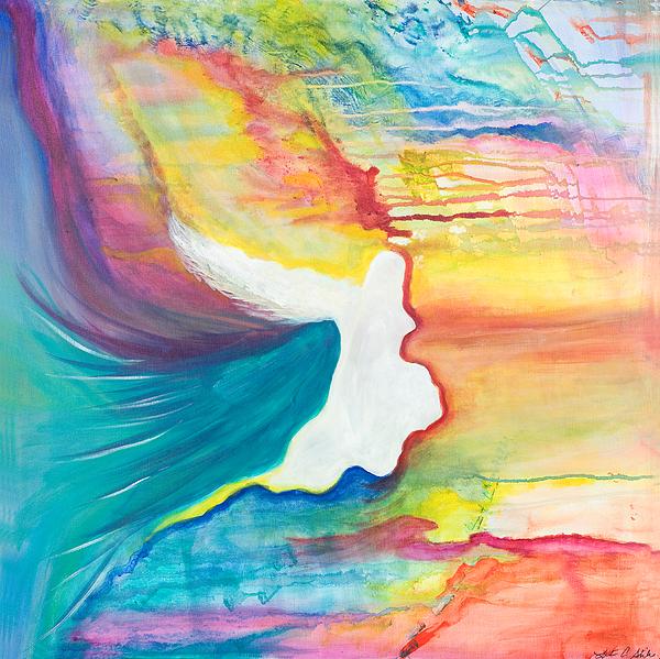 Angels Painting - Rainbow Angel by Leti C Stiles