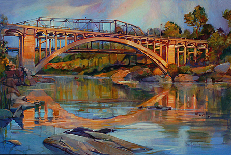 Landscape Painting - Rainbow Bridge by Steve Memering