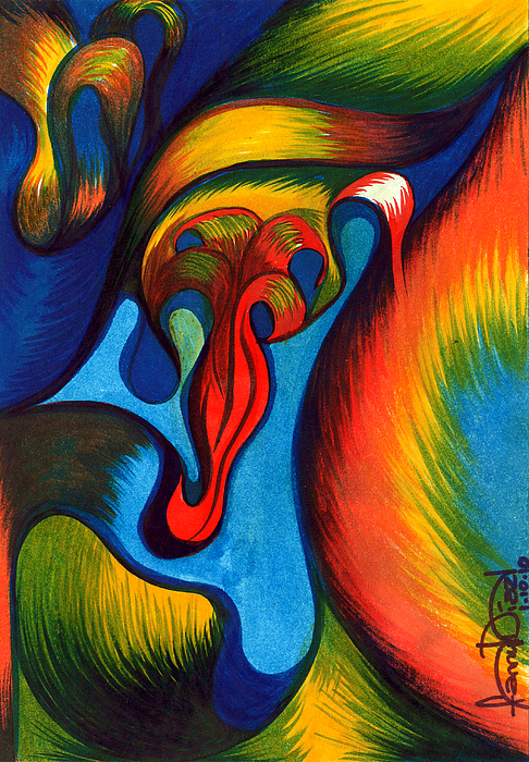 Colorful Painting - Rainbow by Fanny Diaz