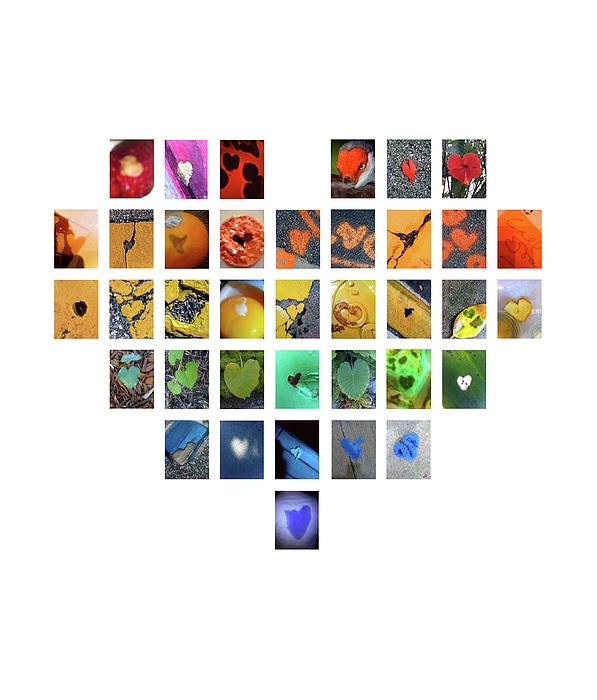 Hearts Photograph - Rainbow Hearts by Boy Sees Hearts