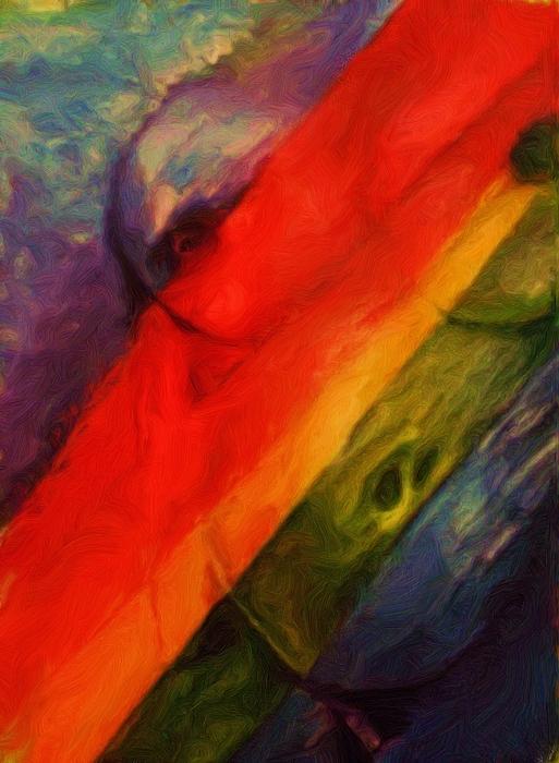 Nude Painting - Rainbow Nude by Shelley Bain