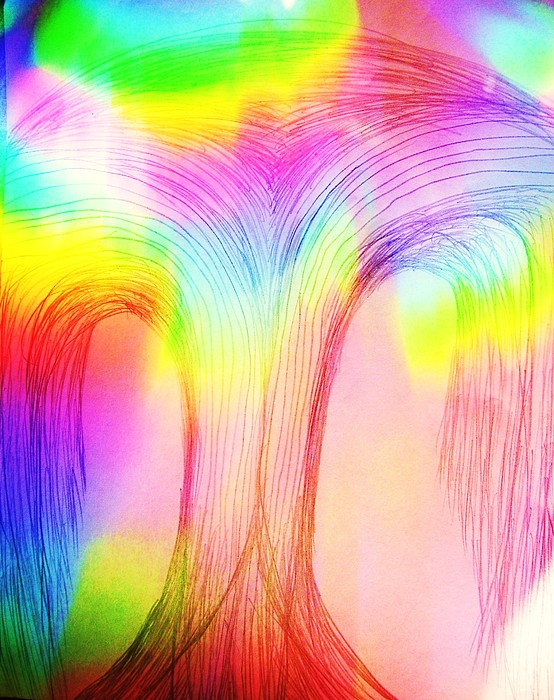 Rainbow Over A Tree Painting by Nereida Slesarchik Cedeno Wilcoxon