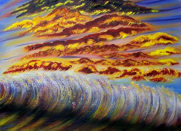 Sky Painting - Rainbow Waves by Marie Lamoureaux