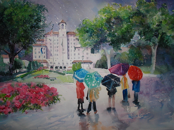 Broadmoor Painting - Rainy Day At The Broadmoor Hotel by Reveille Kennedy